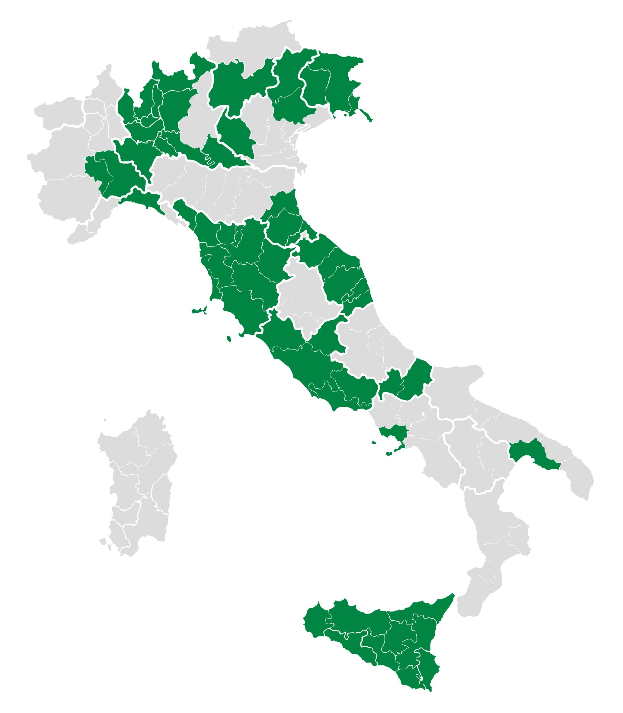 Mappa dei CSV aderenti